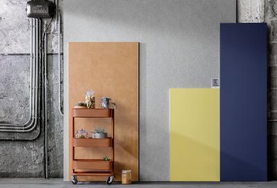 Farbwelt 3: Blickfang Cognac, Blau und Gelb / Foto: Caparol Farben Lacke Bautenschutz/blitzwerk.de