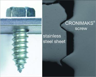 The cut analysis proves: the thread edges of conventional self-tapping screws fail in high-strength steels - the EJOT Cronimaks does not