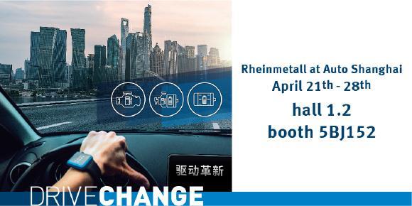 Rheinmetall showcasing the shift to new drive technologies
