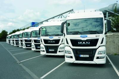 58 new MAN TGX volume transporters with full safety equipment for Ford in Cologne