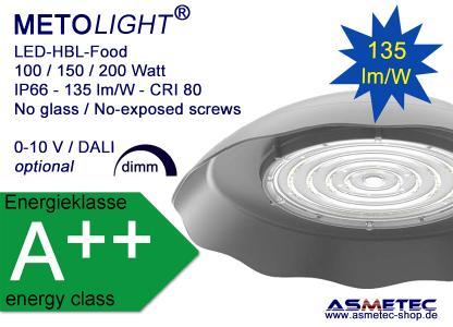 METOLIGHT LED-UFO-Food, mit Fresnel Linse 90°, Gehäusefarbe weiß