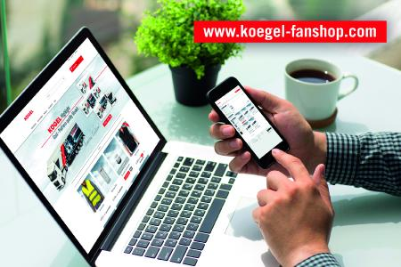 Screenshot of the new Kögel Fan Shop