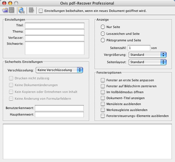 pdf-Recover Familie mit erweitertem Funktionsumfang