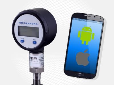Bluetooth-Schnittstelle und Smartphone-App erleichtern das Ablesen der Messwerte in ungünstigen Einbausituationen