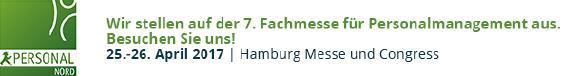 200 Freikarten für die Personal Nord 2017 am 25. und 26. April 2017 in Hamburg. Am Messestand zeigt asdag interessierten Besuchern die neuen asdagcloud Funktionen am Beispiel einer regelmäßig durchgeführten Zufriedenheitsbefragung von Mitarbeitern. Auf der asdag Webseite sind – solange der Vorrat reicht – je zwei Freikarten für die Personal Nord zu haben
