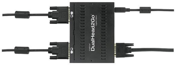 Matrox DualHead2Go Digital Edition - top with cables