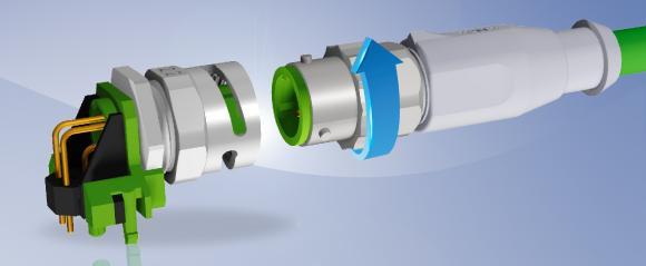 CONEC M12 Steckverbinder Serie mit Bajonett-Schnellverriegelung