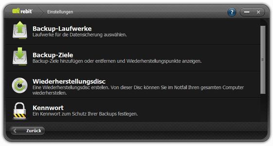 Unverschämt einfach: Rebit 5 erstellt automatisch Backups (Screenshot, Einstellungen)