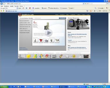 Startseite der neuen SolidWorks Labs Website