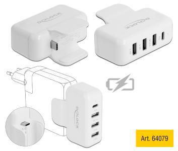 Art. 64079 Adapter für Apple Netzteil mit PD und QC 3.0 von Delock