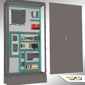 In der Disziplin Cabinet Engineering (CE) der neuen WSCAD SUITE 2018 werden die neuen 3D-Daten aus wscaduniverse.com für eine fotorealistische Darstellung sowie für die Berechnung und Visualisierung von Bauteilkollisionen herangezogen
