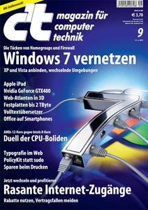 Titelbild der aktuellen c't-Ausgabe 9/2010