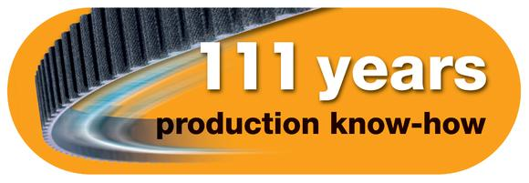 ContiTech looks back on 111 years of production know-how. A seal draws attention to the company's long years of experience