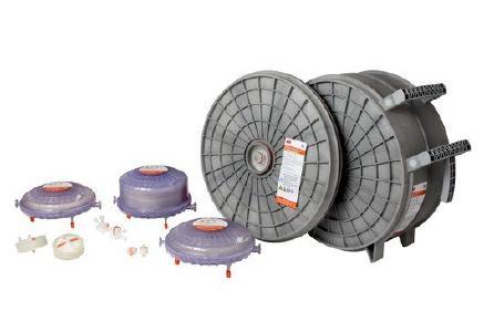 Der 3M Emphaze AEX Hybrid Purifier ist in acht verschiedenen Größen erhältlich. Alle Capsulen sind autoklavier- und sanitisierbar. Foto: 3M