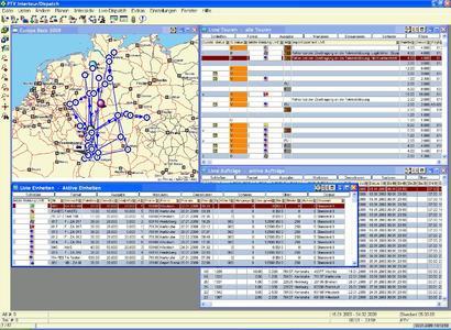 Der Disponent hat mit der Telematikanbindung von PTV Intertour/Dispatch die aktuellen Daten im Blick