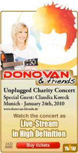 World Premiere Donovan Friends Unplugged Concert Live Stream Online Tv1 Gmbh Press Release Pressebox