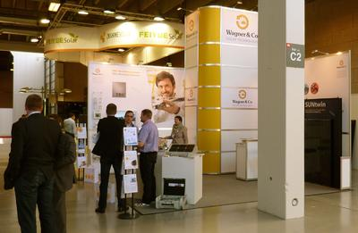 Wagner booth at the Energy Europe fair in Copenhagen