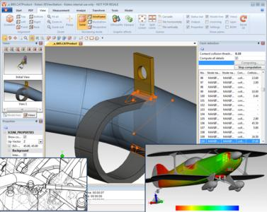 Visualize & analyze large 3D CAD models: KISTERS 3DViewStation V2015.1