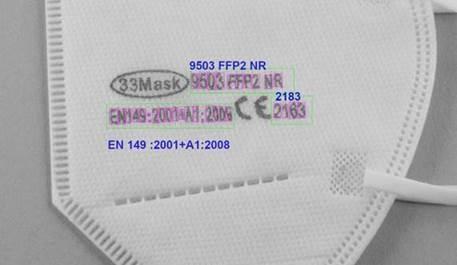 FFP 2 Masken Inspektion mit der EyeVision Software