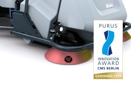 Gewinner des Purus Innovation Award 2019: Dust Stop für staubfreies Kehren.