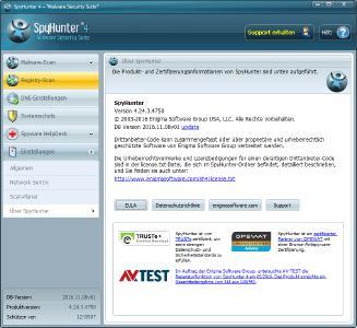 SpyHunter 4 Anti Malware About-Screen