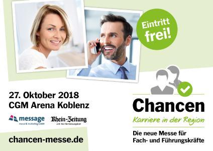 Plakatmotiv der Chancen - Karriere in der Region Koblenz 2018