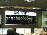 eyevis video wall in a control room