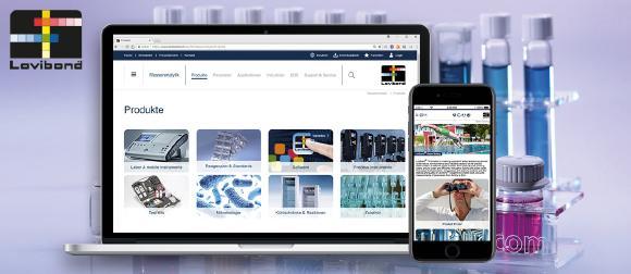 infolox und Tintometer lovibond - Relaunch Webite Omnichannel-Box