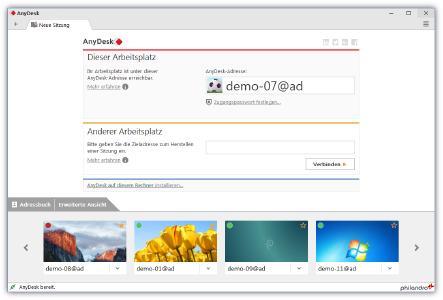 Screenshot AnyDesk 3.0