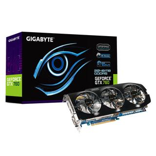 Gigabyte GeForce GTX 760 OC, Windforce 3X, 2048 MB DDR5, DP, HDMI