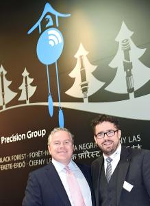Leipold Group CEO Pascal Schiefer (l.) and ILSCO President Andrew B. Quinn launched a partnership at HMI in Germany for the power distribution blocks of Leipold.