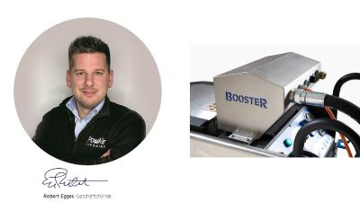 Robert Egger mit PowAir Booster für die patentierte KDL-Reinigung Quelle Egger PowAir Cleaning