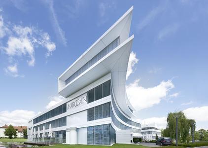 Imposantes Gebäude: Der Neubau des Modeunternehmens Marc Cain im badenwürttembergischen Bodelshausen.