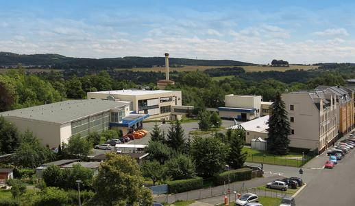 Das Werksgelände von vosla in Plauen / Bildnachweis: Werksfoto vosla