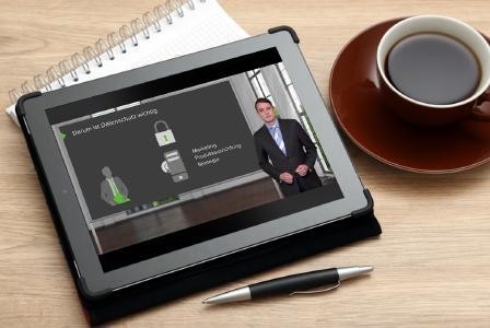 Die aktualisierten Videos zu den neuen Richtlinien der Datenschutzgrundverordnung sind wie immer bequem auf Tablet, Desktop und Smartphone verfügbar.