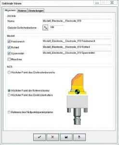 Dialogfenster für die Elektrodenbearbeitung in hyperMILL® / Bildquelle: OPEN MIND