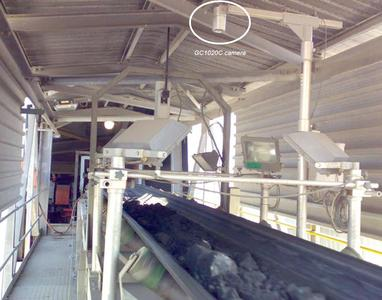 1: Prosilica GC1020C - The Lynxx Optical Particle Analyzer at work over a conveyor belt in a South African mine