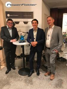Das PowerFolder-Team auf der PITS: Rolf Fellmann, Christian Sprajc und Bernhard Rutkowsky