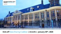 Kickoff event of the Data Sharing Coalition in the Muntgebouw in Utrecht