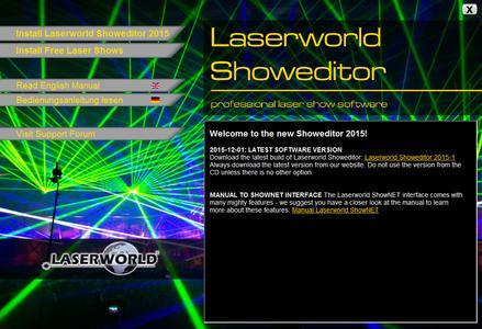 Laserworld Showeditor Installationsscreen