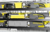 SSI Flexi: Mit dem Einsatz der Power Caps-Technologie bei Lagermaschinen, werden energieeffiziente Lagerprozesse möglich / © SSI SCHÄFER
