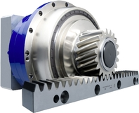 Rack-and-pinion drive with TP+ gearhead, Premium Class+ pinion and Premium Class rack