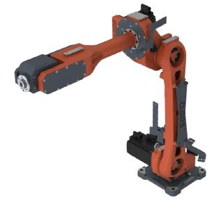 The QIROX QRC-290 is a six-axis articulated arm robot which is used in an upright or an overhead position