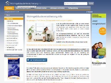 Vergleichsportal Wohngebaeudeversicherung.info gestartet