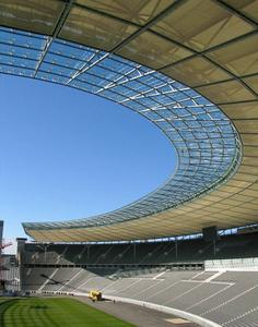 The Olympic Stadium in Berlin with its modern lightweight membrane roof