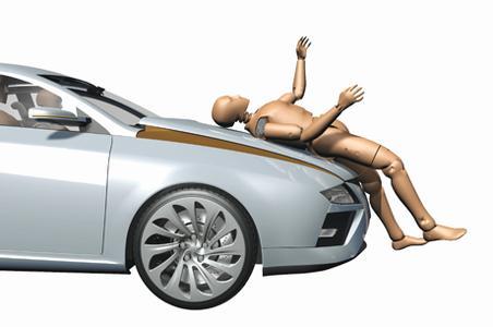 Drucksensoren in der Stoßstange erkennen zuverlässig Unfall mit Personenbeteiligung und aktivieren Sicherheitssysteme in der Karosserie.