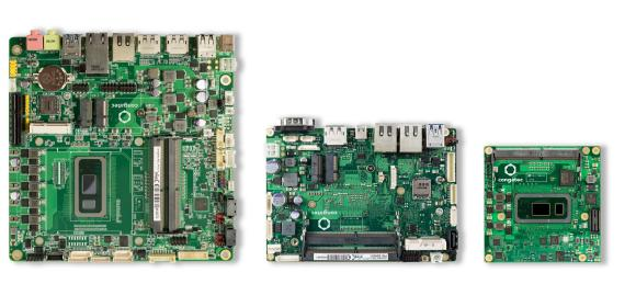 Einer der Schwerpunkte der Präsentation auf der Evertiq Expo sind die neuen embedded Boards und Module mit Intel Core Prozessoren der 8. Generation