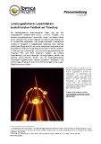 [PDF] Pressemitteilung: Leistungsstärkerer Laserleitstern besteht ersten Feldtest am Teleskop
