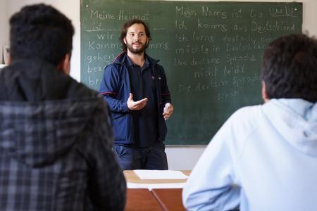 Deutschunterricht in einer Flüchtlingseinrichtung der Malteser © Malteser/Luetke