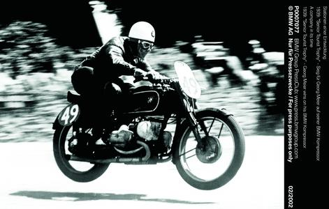 """A company in its time, 1939: """"Senior Tourist Trophy"""" - Georg Meier wins on his BMW Kompressor (03/2002)"""